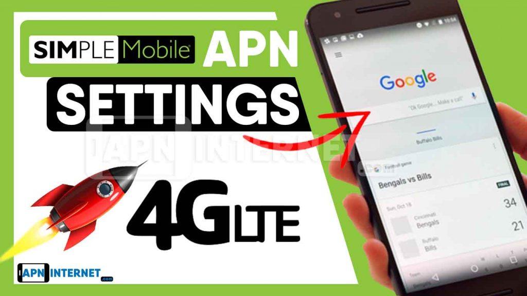 simple mobile internet settings