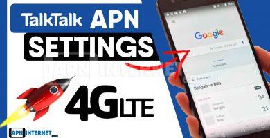 talk talk apn settings